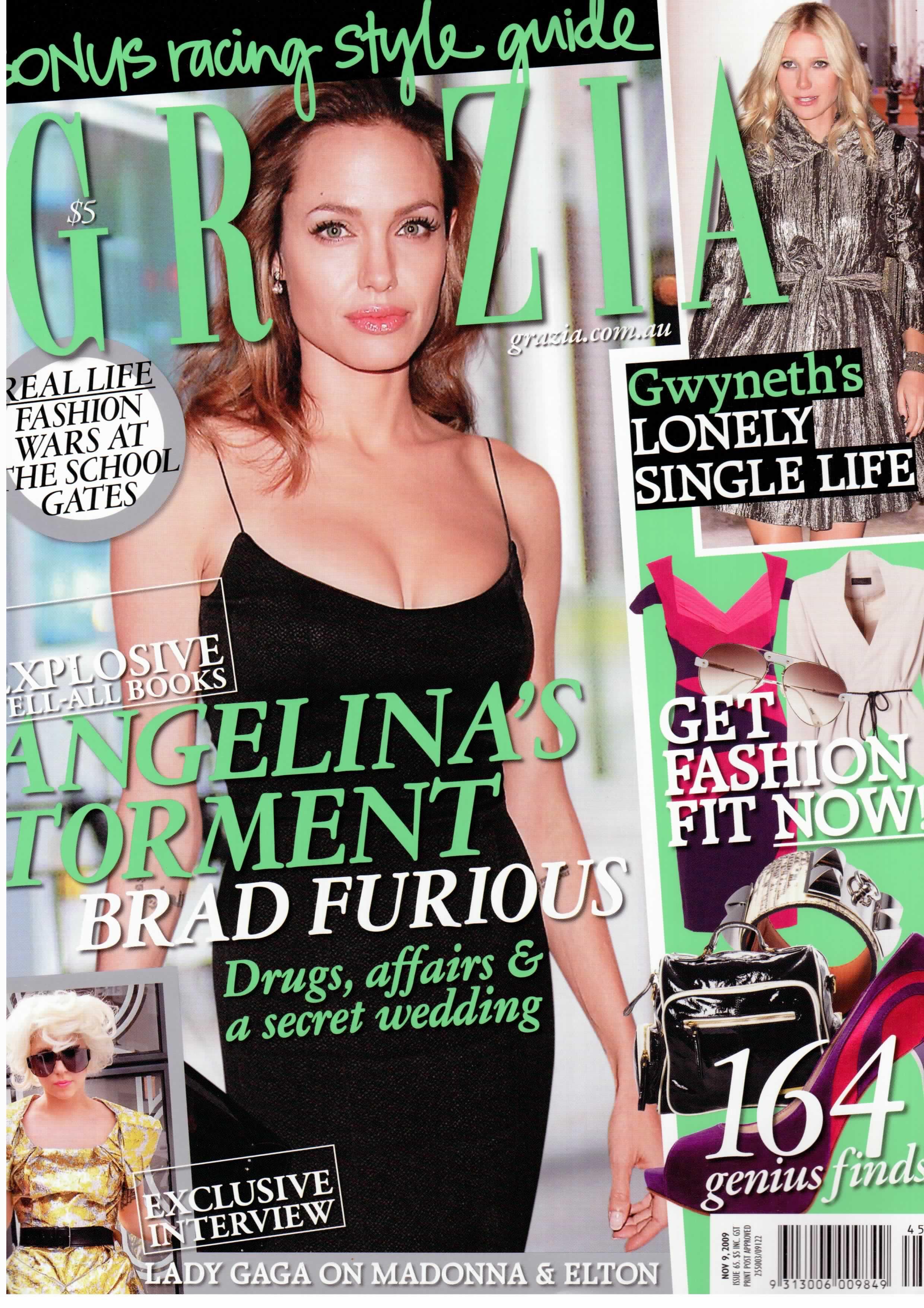 Grazia magazine cover November 2009