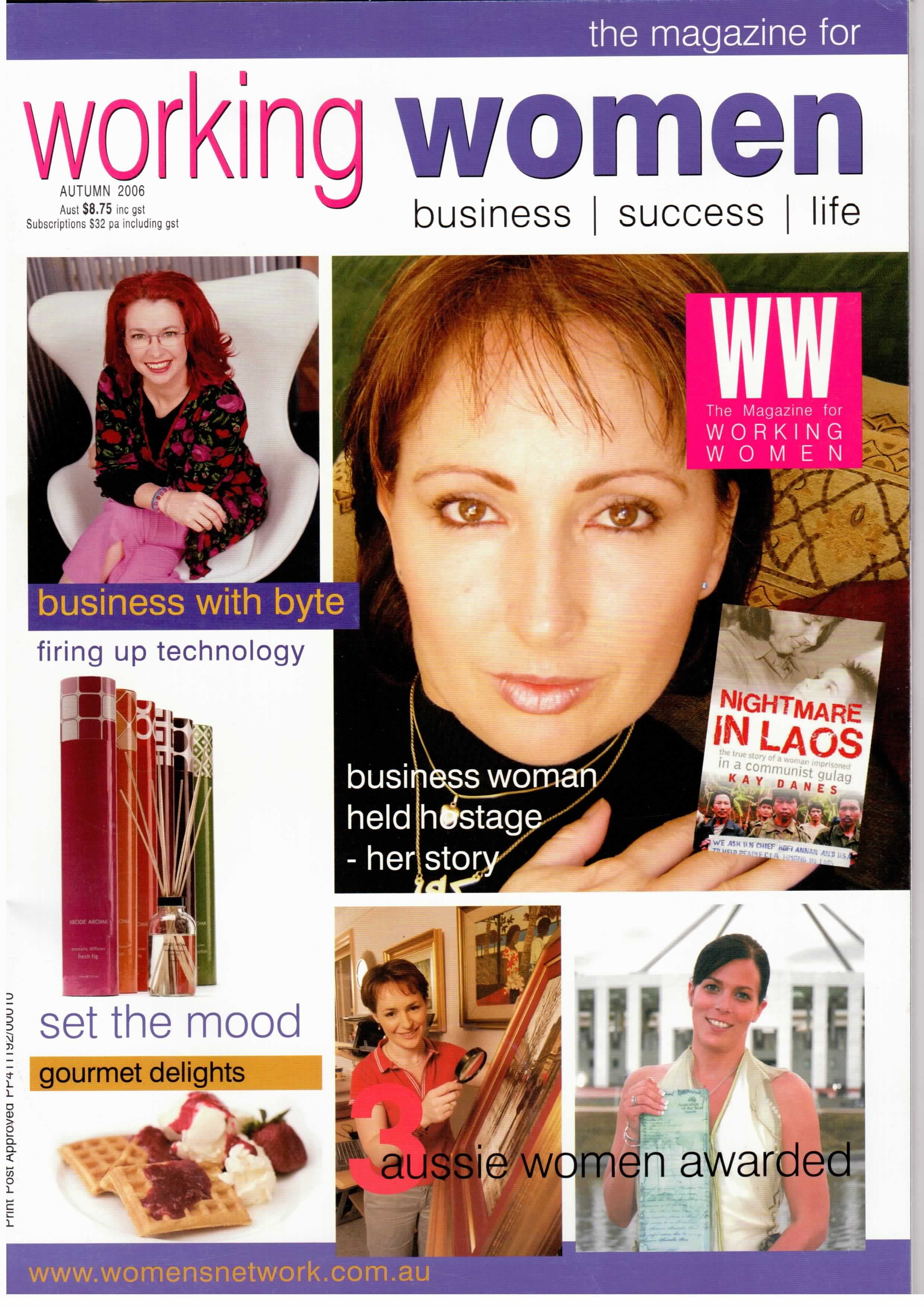 Working women magazine cover automn 2006