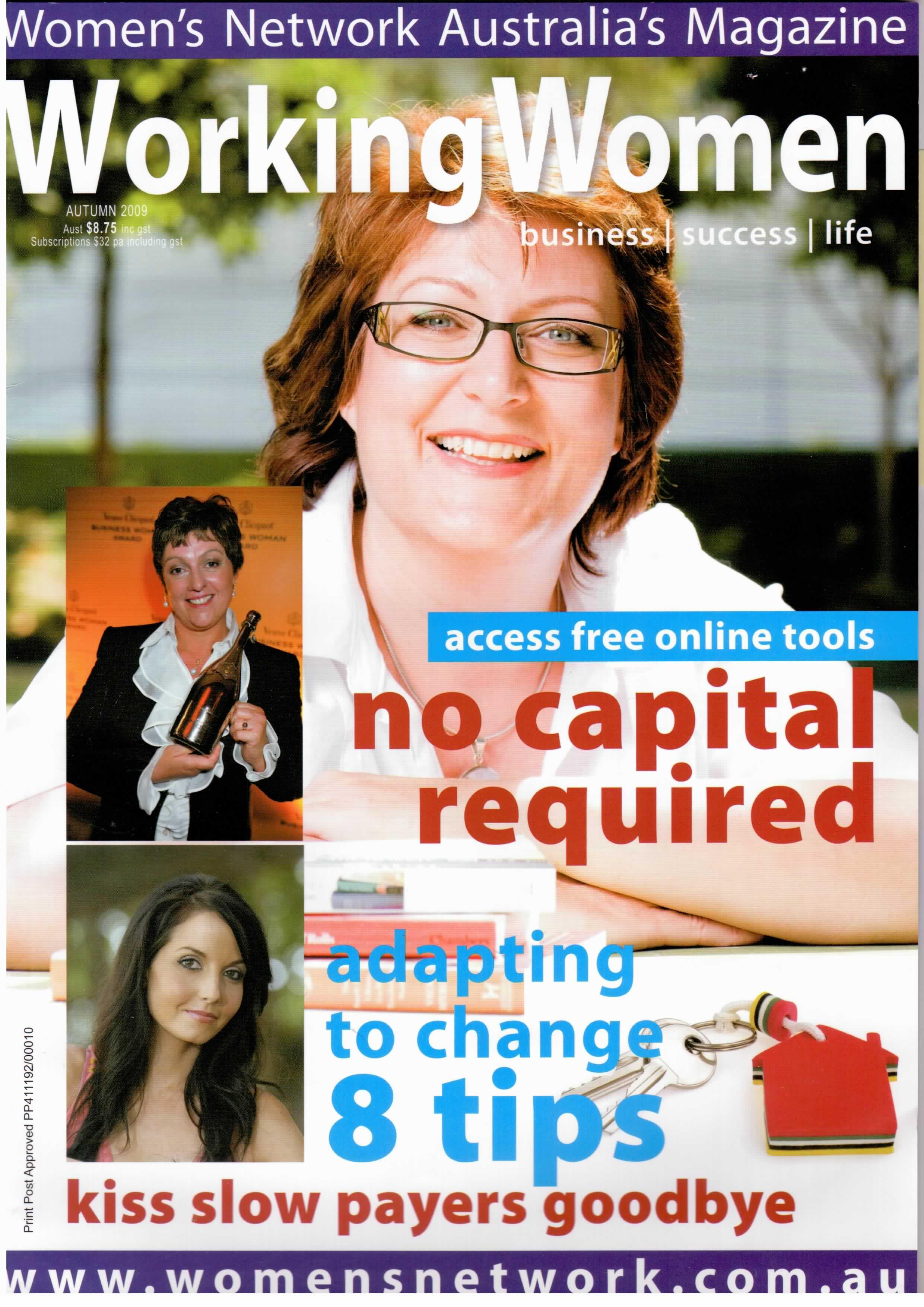 Working Women Magazine cover autumn 2010