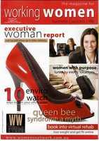 Working Women Magazine cover winter 2007