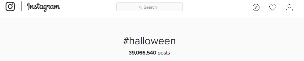 Halloween Instagram example