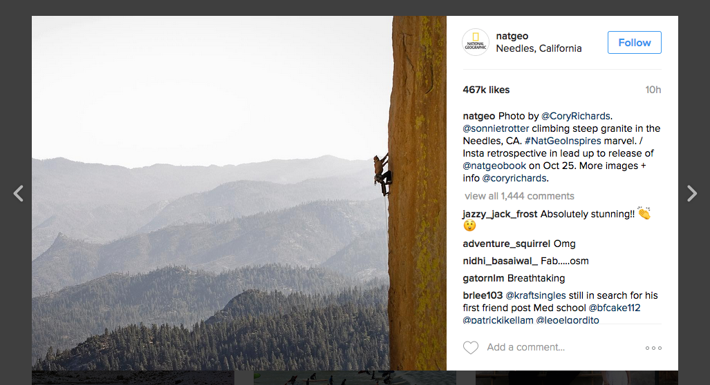 National Geographic Instagram Example
