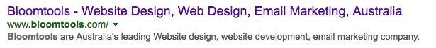 Bloomtools Google listing