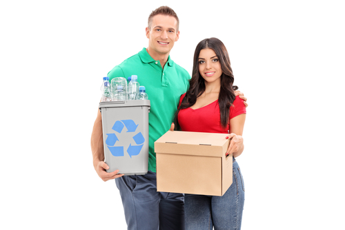 a couple looking to recycle with Rubbish Removal in Adelaide