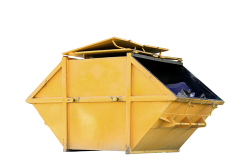 a yellow skip bin used for Rubbish Removal in Sellicks Beach