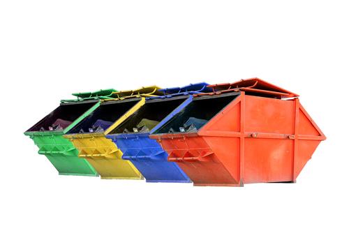Image of Multi Coloured Rental Skip Bins in Adelaide