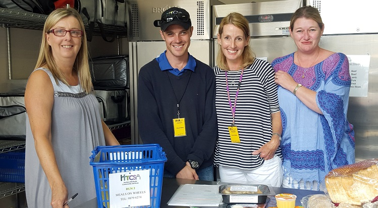 A photo of two volunteers with the meals on wheels two coordinators