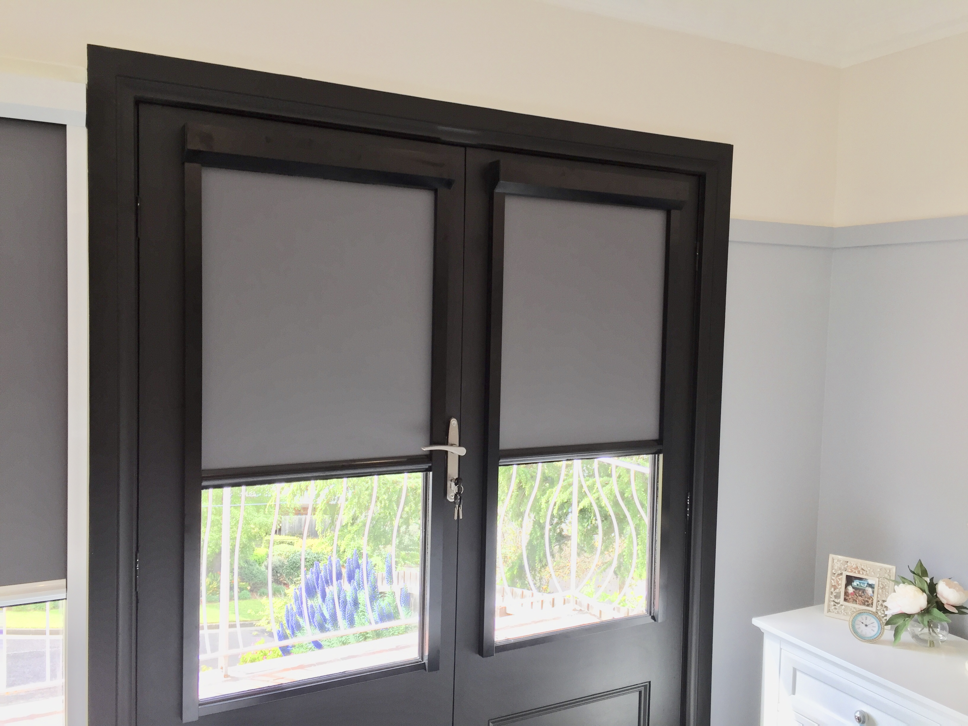 Great ... Screenaway Blind, Giving You Privacy Through Those Glass Doors With The  Blinds Being Able To Be Fixed, Much Better Option Than The Roller Blinds  That ...