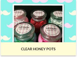 Clear Honey Pot Candles Sydney