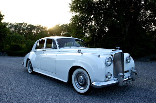 1956 S1 Bentley in Pearl White, A Rolls Choice Livery