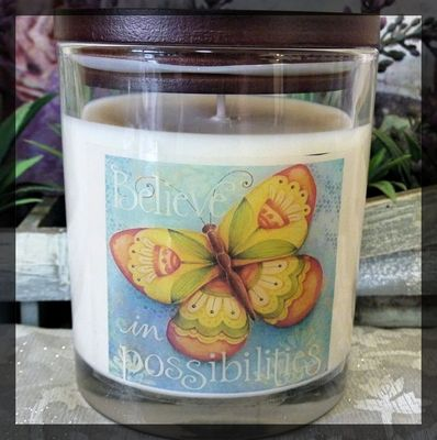Soy Candle butterfly raspberry sugar - Dream Candles 4740