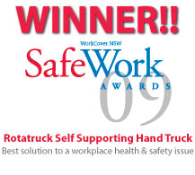Rtatruck Self Supporting Hand Truck - Winner 2009 SafeWork Awards