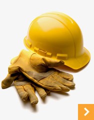 hard hat and gloves