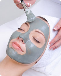 Signature facials, girl getting facial