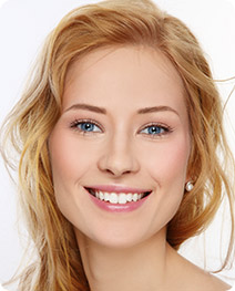 Girl smiling, skin needling