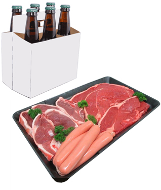 meat tray six pack raffle townsville