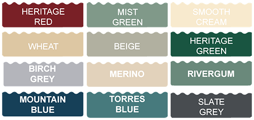 All Weather Tank Colours