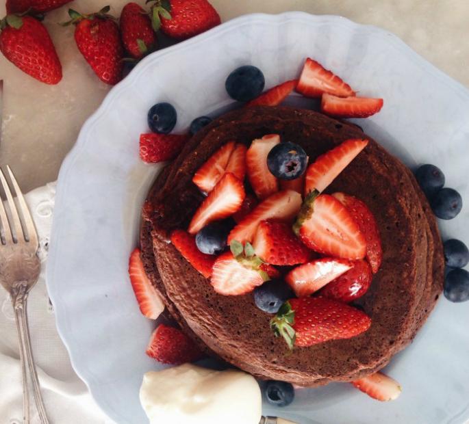 Choc Pancakes Healthy Hunter Single