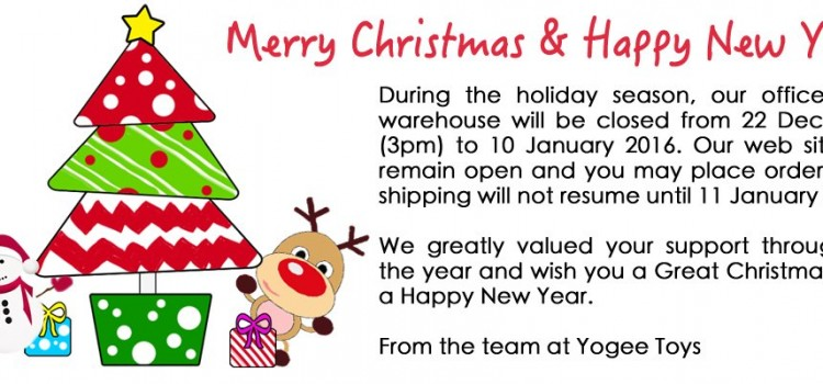 2015 Christmas and 2016 New Year Operating Hours