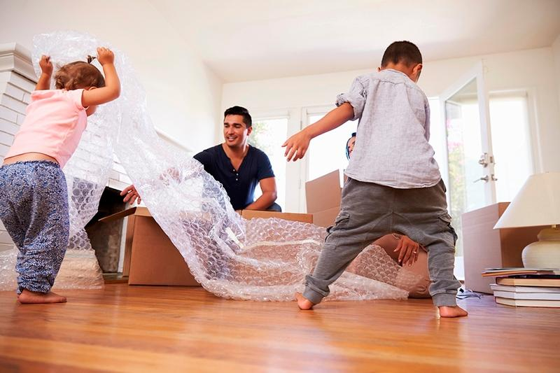 moving house with kids