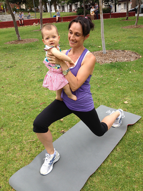 12WBT Getting Fit with Baby: Lunges