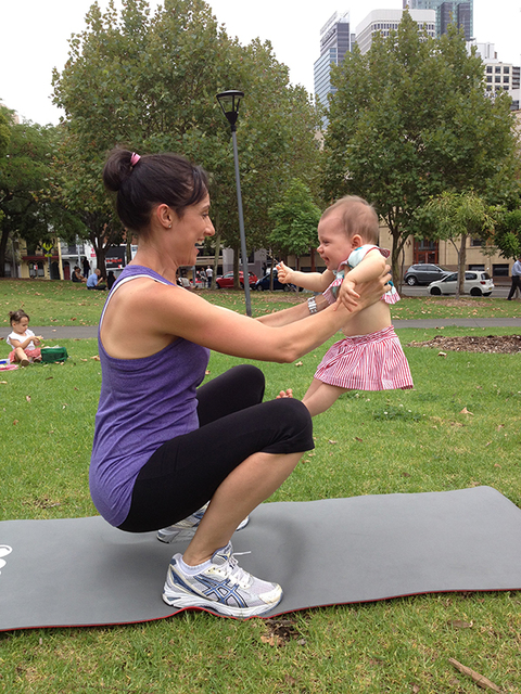 12WBT Getting Fit with Baby : Baby Squat