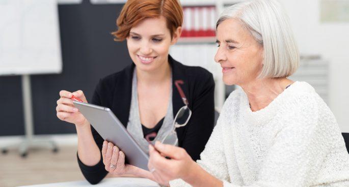 Jobs for women over 55