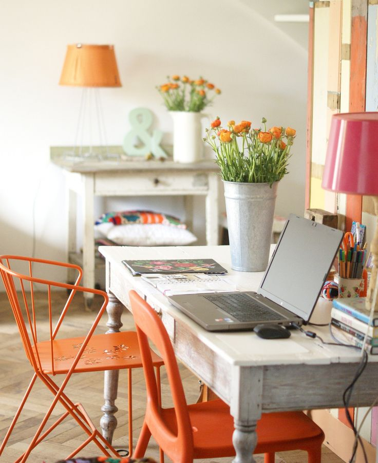Spring Home Office Setting