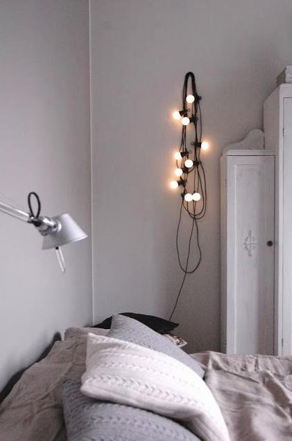 Looped fairy lights