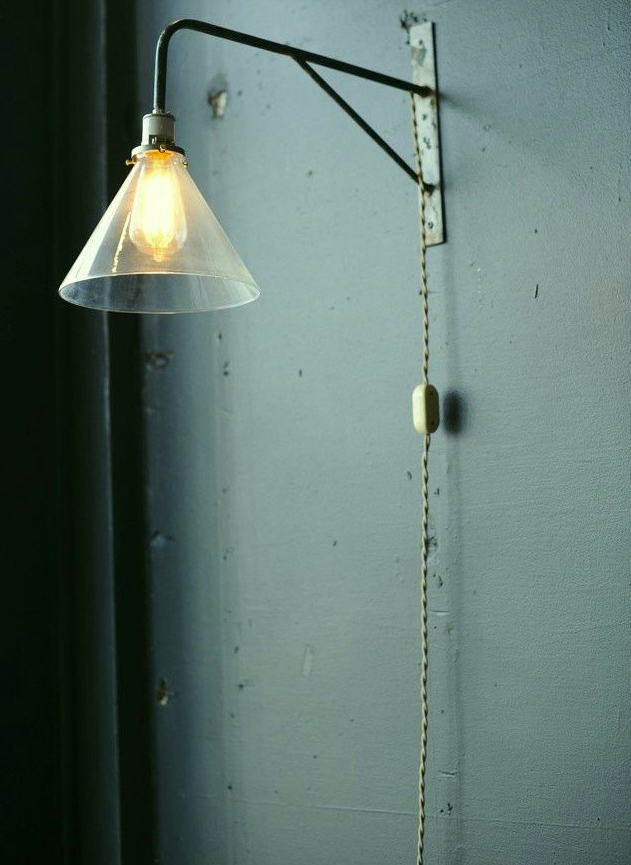 Rustic wall sconce light