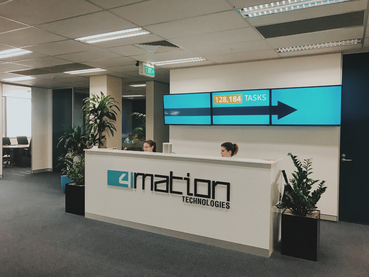 4mation's Office Reception Area