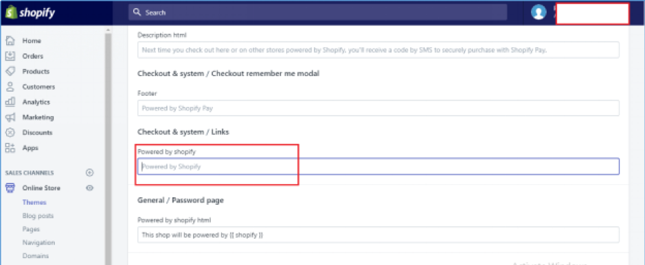 How to remove 'Powered by Shopify' from footer of your store screenshot 4