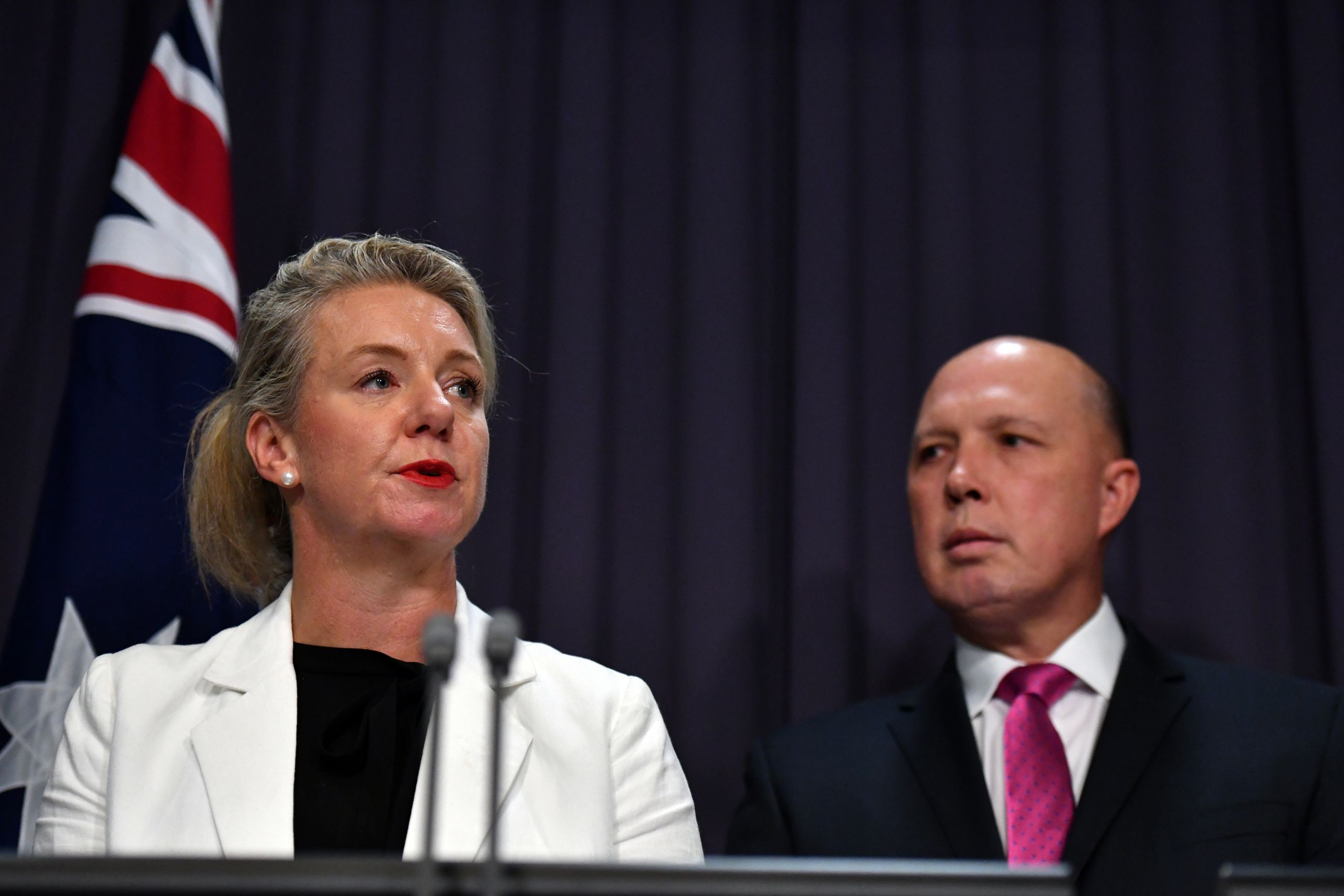 Bridget McKenzie and Peter Dutton