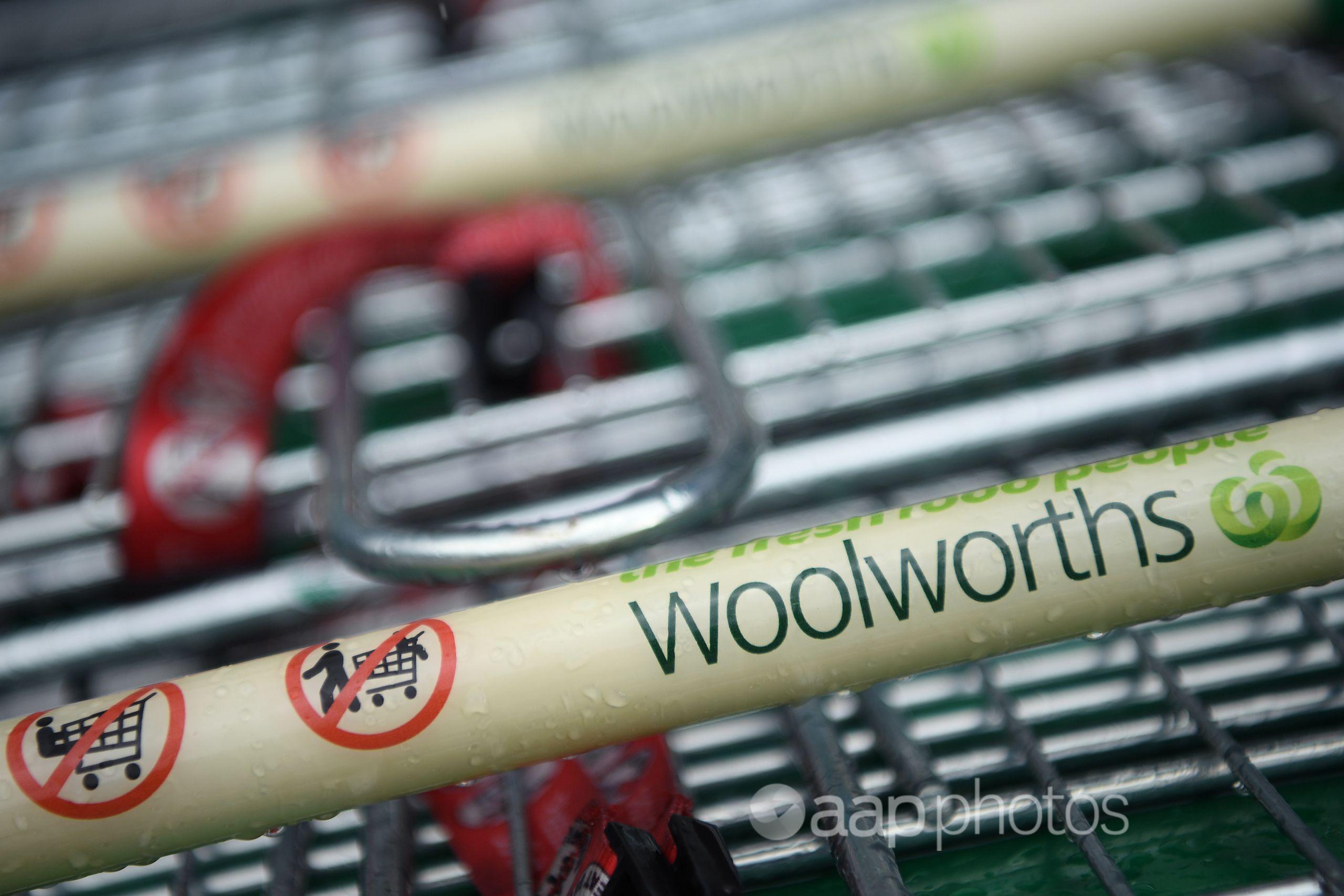 Woolworths shopping trolley