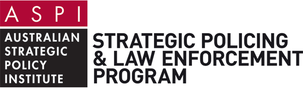 Strategic Policing Program White logo