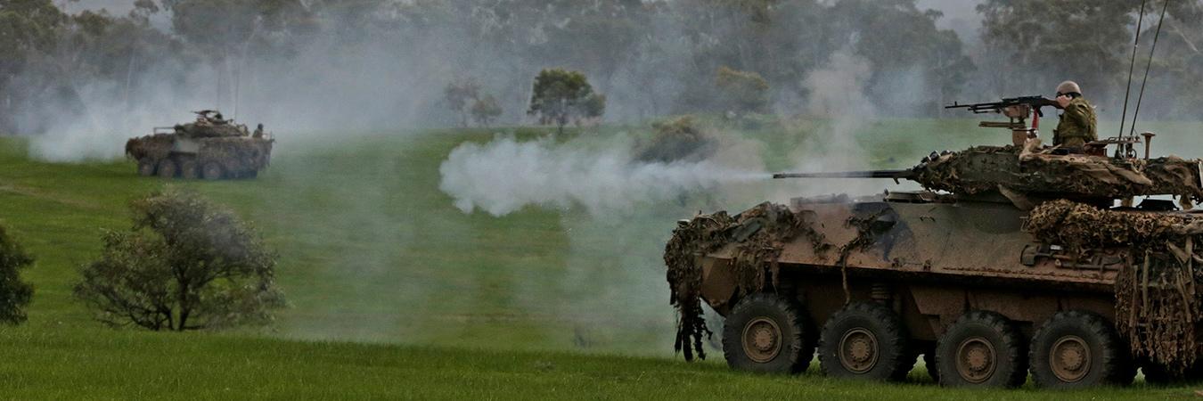 ASLAVs firing