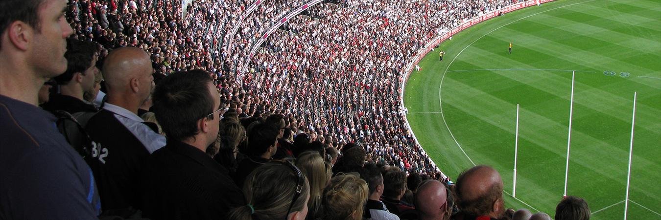 Crowd at AFL game