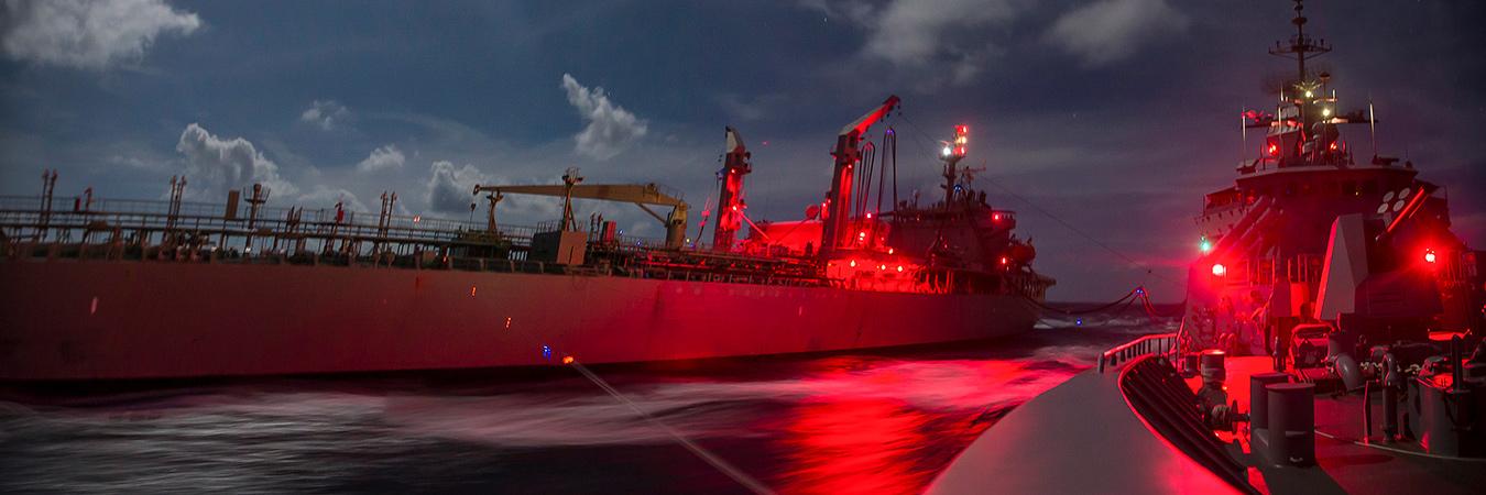 RAN ships at night