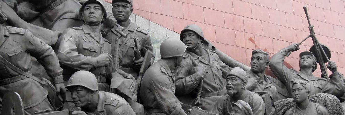 North Korean statue - banner