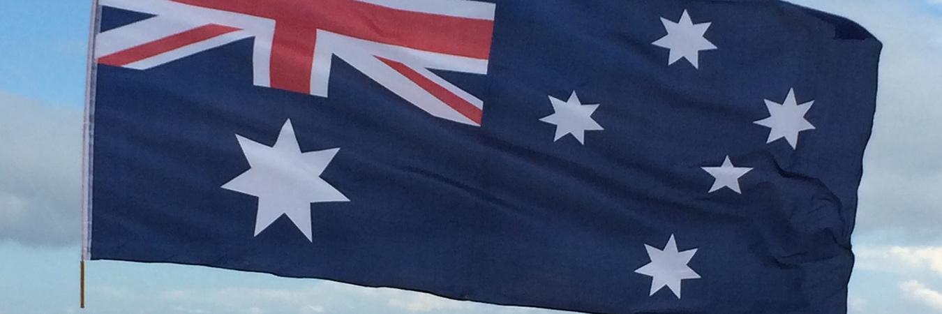 Australian Flag - at beach