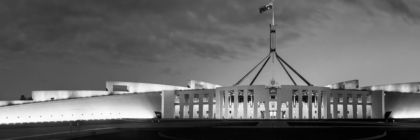 Parliament House - greyscale