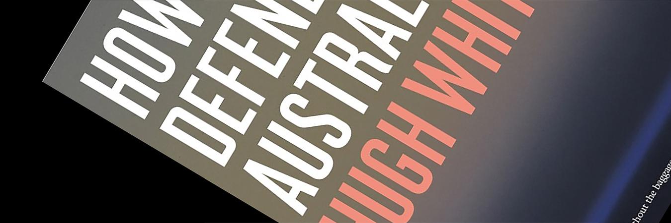 How to defend Australia - book cover