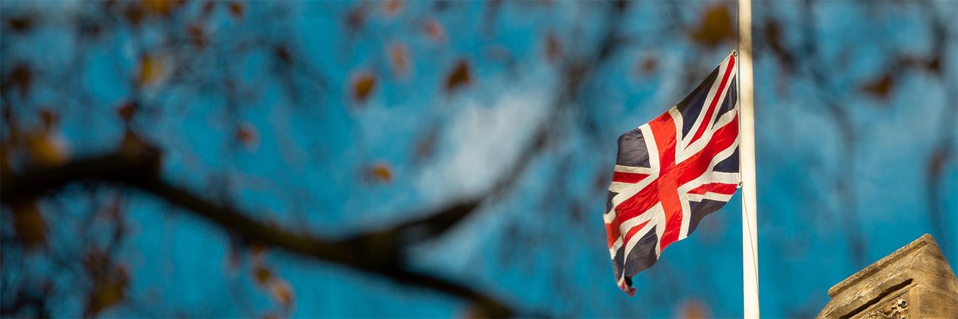 UK Flag half-mast