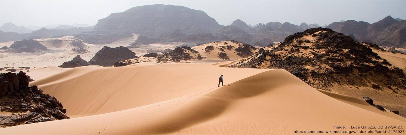 African desert via WikiMedia