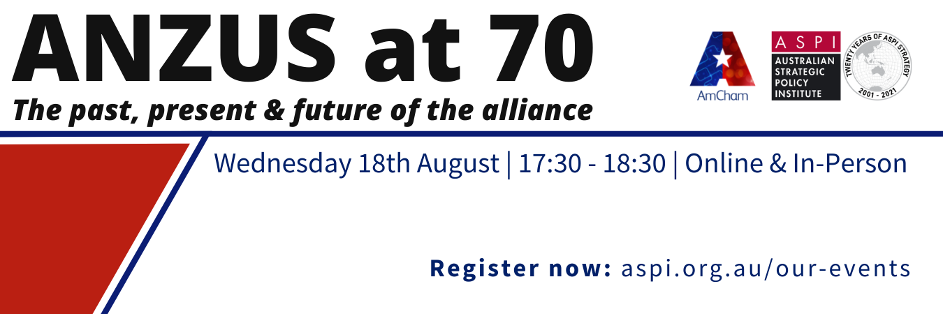 ANZUS at 70: the past, present and future of the alliance
