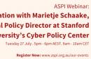 ASPI Webinar: In-Conversation with Marietje Schaake