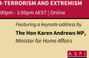 ASPI Webinar: The road from 9/11: The evolution of counter-terrorism and extremism