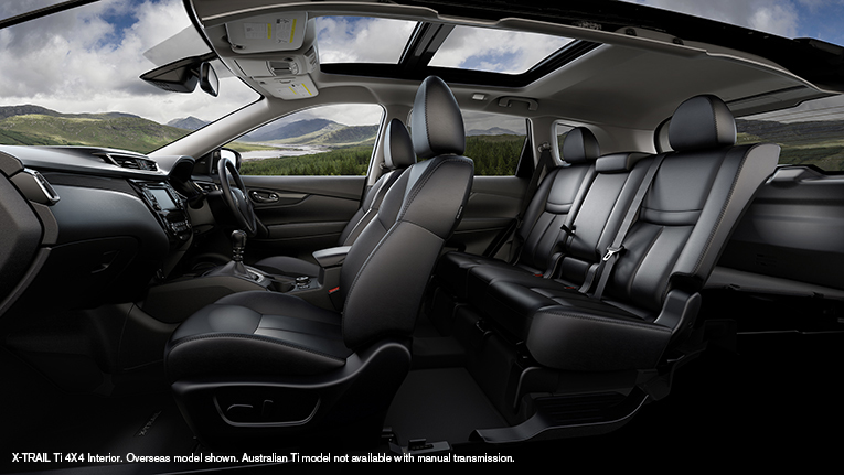 Interior of the new X-TRAIL