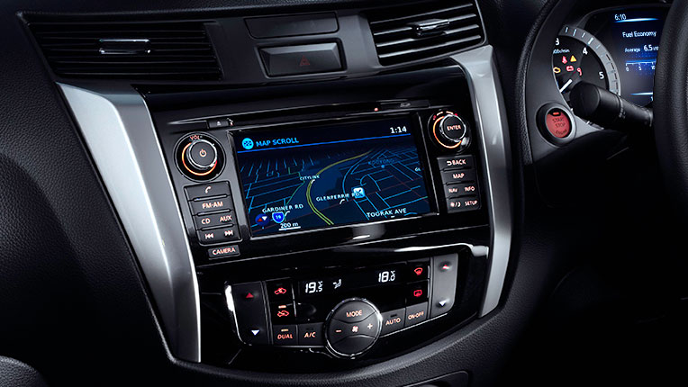 """Satellite Navigation with 3D Mapping and 7"""" integrated colour display with touch screen (ST-X Dual Cab model shown)"""