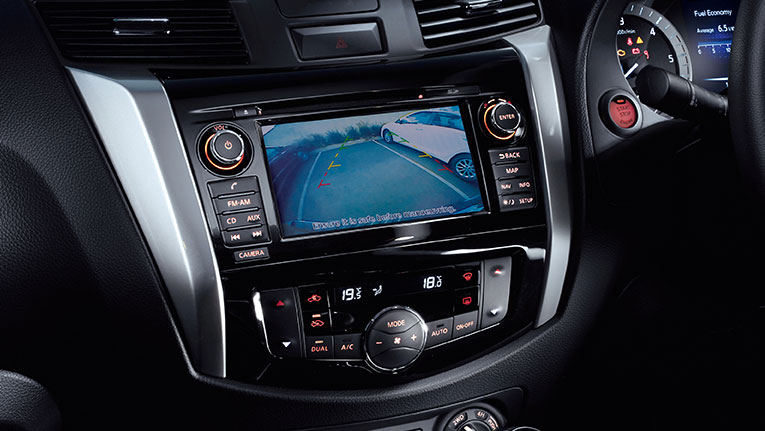 Reversing Camera shown in the ST-X Dual Cab